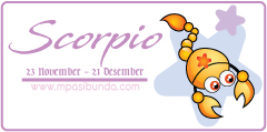 Zodiak Scorpio | MPASI Bunda