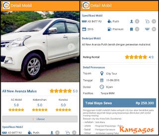 DOcar aplikasi layanan sewa mobil online Solo Jogja Semarang dan kota besar lainnya berbasis Android