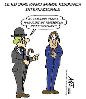referendum costituzionale, riforme, vignetta, satira