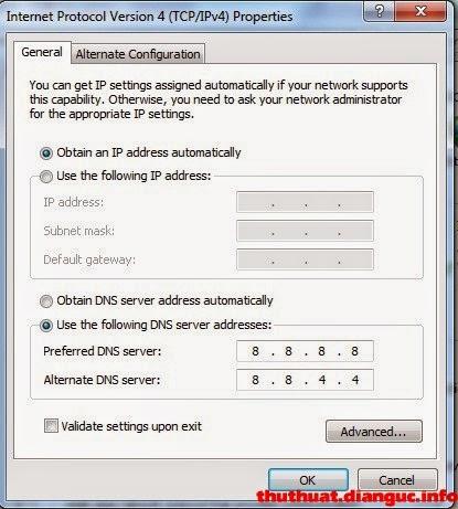 Đổi DNS facebook