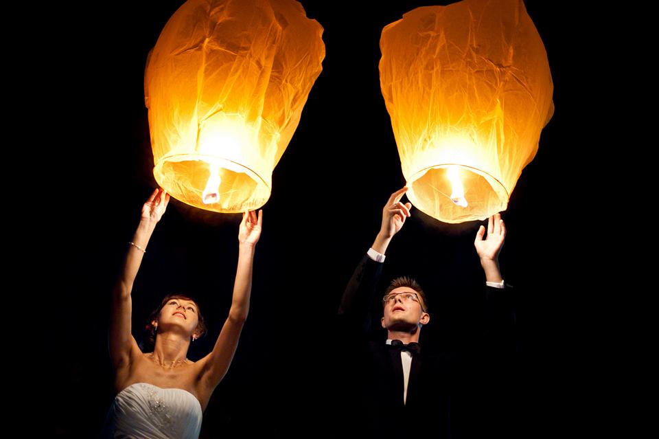 lampiony na ślub