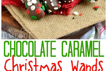 Chocolate Caramel Christmas Wands and the BEST Ever Holiday Kids Table