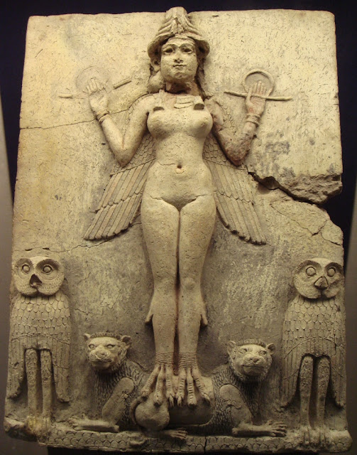 Ancient Mesopotamian civilization/The Burney Relief, First Babylonian Dynasty, around 1800 BC