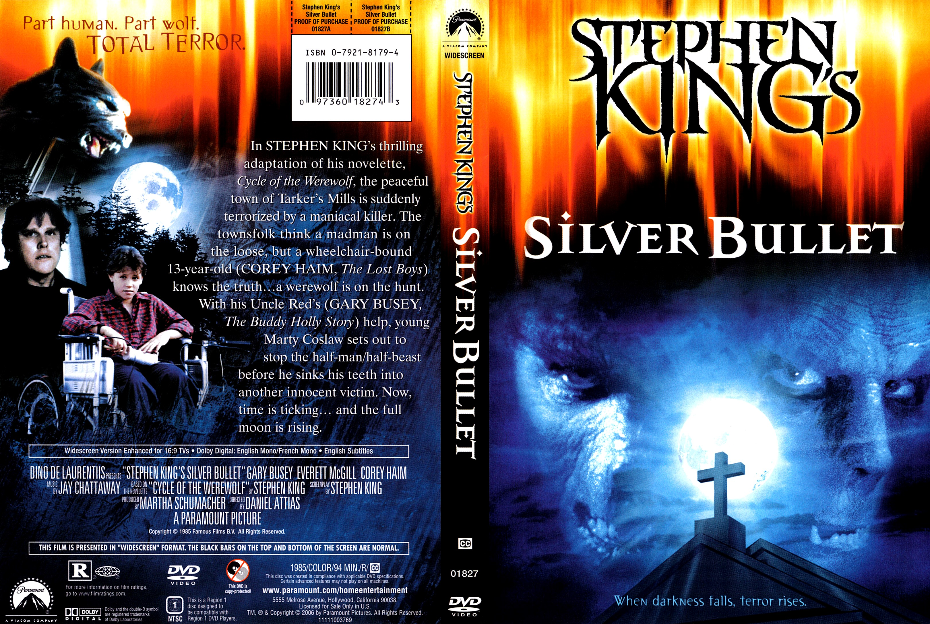 Stephen King's Silver Bullet (scan) DVD Cover | Cover ...