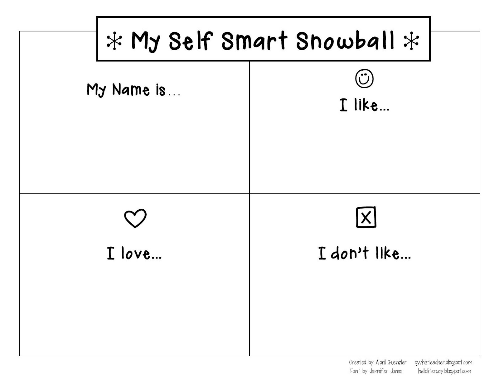 Gwhizteacher Self Smart Self Portraits