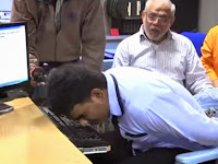 Hussain Pecahkan Rekor Dunia Mengetik Dengan Hidung