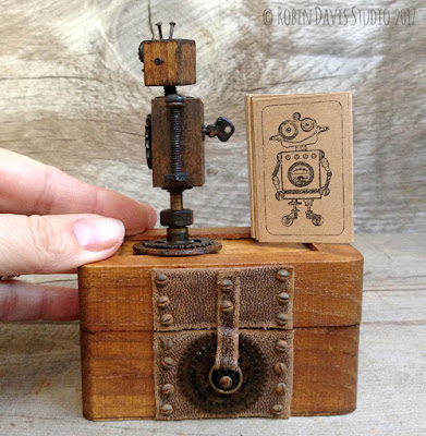 Steampunk Styled Robots by Robin Davis Studio