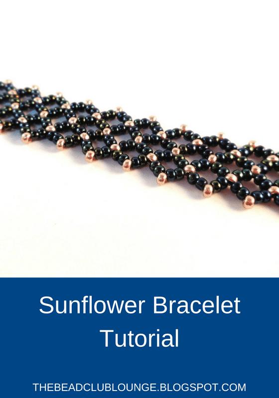 Free Sunflower Bracelet Tutorial- The Bead Club Lounge