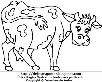 Ilustración de vaca para colorear. Dibujo de vaca hecho por Jesus Gómez