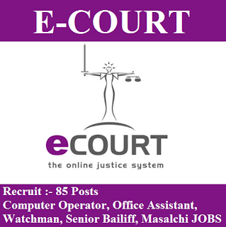 Tiruvannamalai District Court, freejobalert, e-Courts Admit Card, Tiruvannamalai District Court Answer Key, Answer Key, e-courts logo