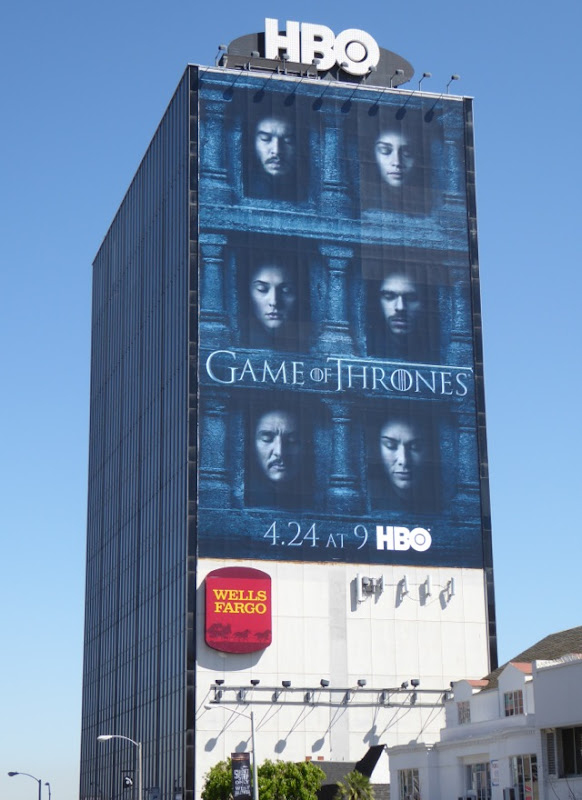 Game of Thrones season 6 Hall of Faces billboard