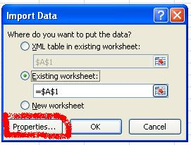 Singh Vikash blog: Excel: How to use WebQuery with Excel 2007?