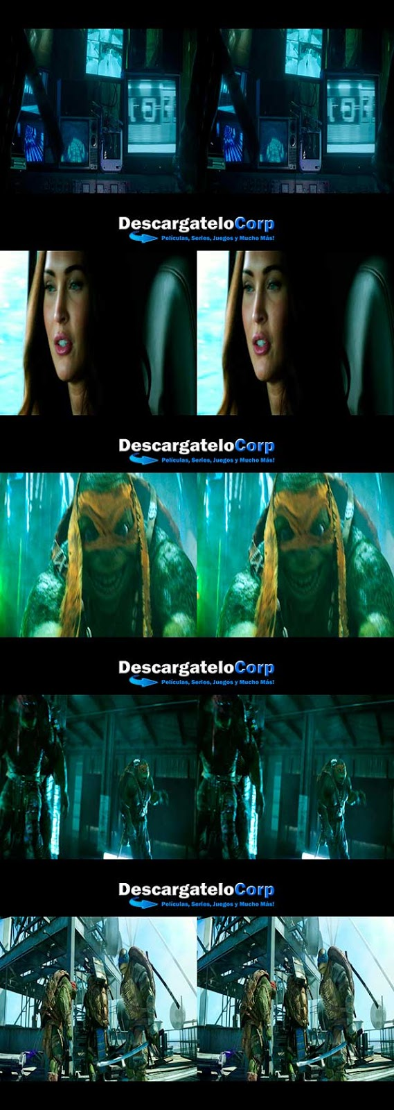 Las Tortugas Ninja 3D SBS Latino
