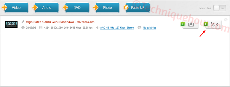 Use Freemake Video Converter cut video