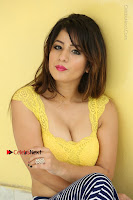 Cute Telugu Actress Shunaya Solanki High Definition Spicy Pos in Yellow Top and Skirt  0359.JPG