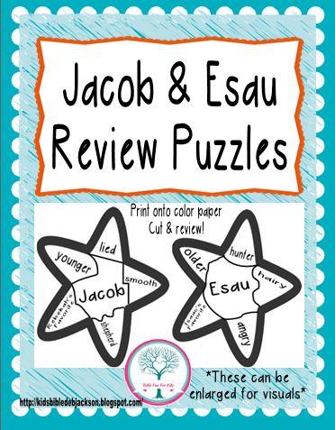 Bible Fun For Kids Cathys Corner Jacob Esau
