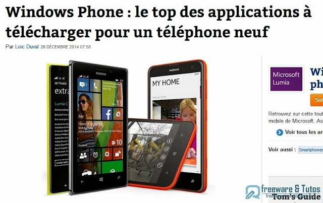 Le site du jour : les applications indispensables à installer sur un nouveau Windows Phone
