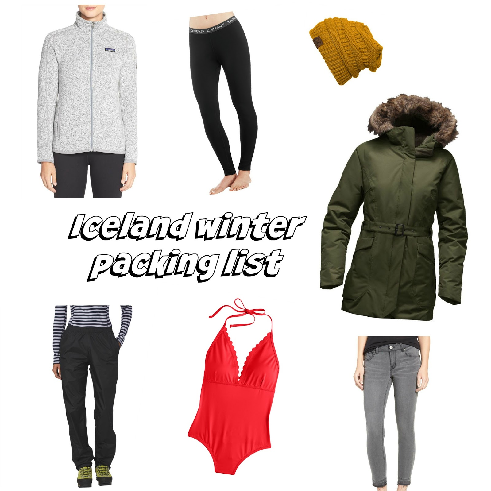iceland winter packing list