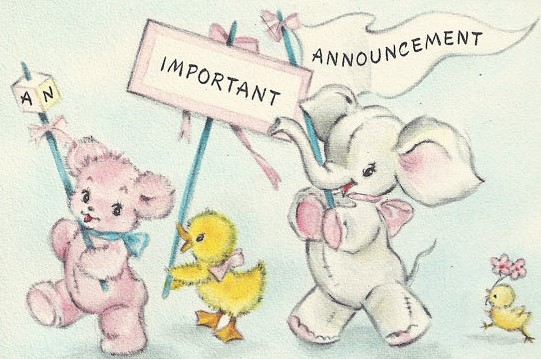 Serendipity Handmade The Vintage Baby a New Addition and a Free – Vintage Baby Announcements