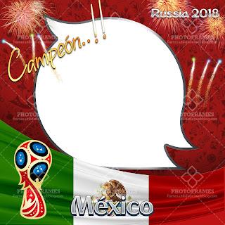 Bello marco para fotos de México con motivo a la copa del mundo Rusia 2018