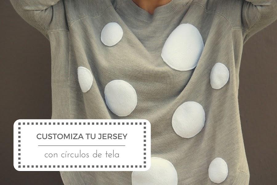 Customiza tu jersey con círculos de tela Punto de Lu