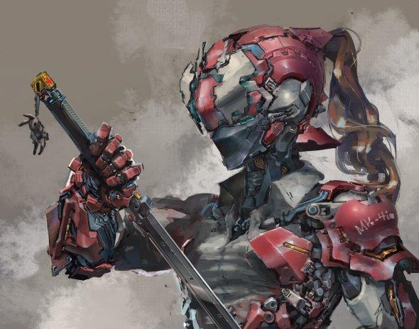 gas1 (tsm) artstation arte ilustrações ficção científica robôs cyberpunk