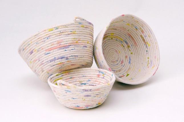 cesta de cuerda pintada - DIY
