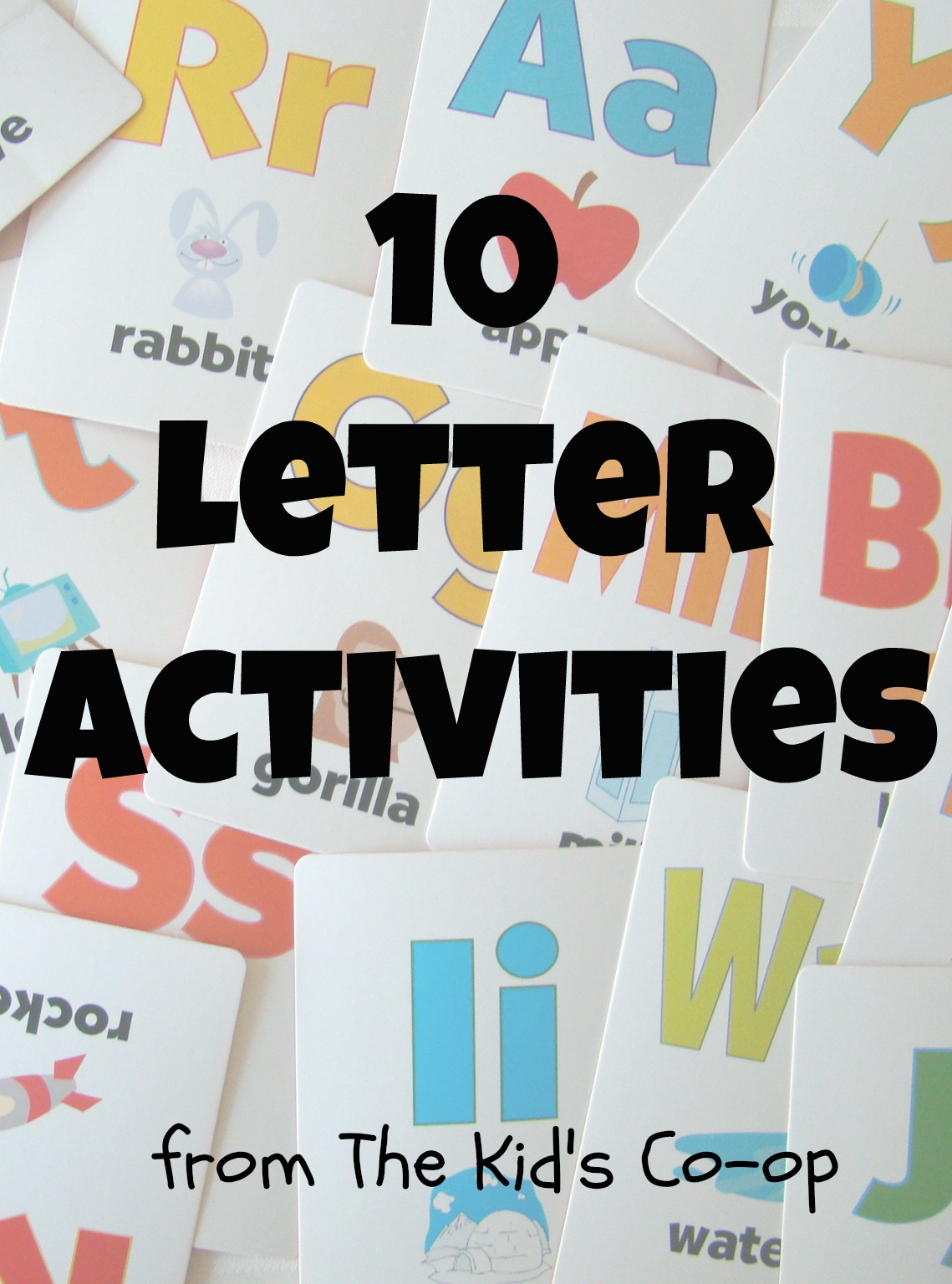10 Letter Activities Kid S Co Op Reading Confetti