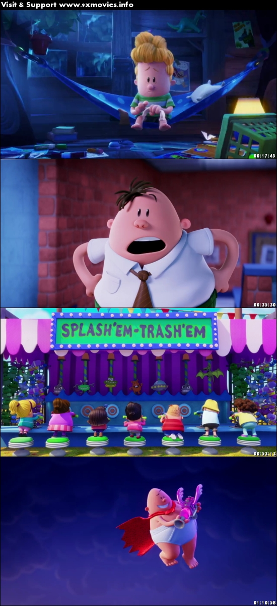 Captain Underpants The First Epic Movie 2017 Dual Audio Hindi 720p Bluray 750mb 9xmovies
