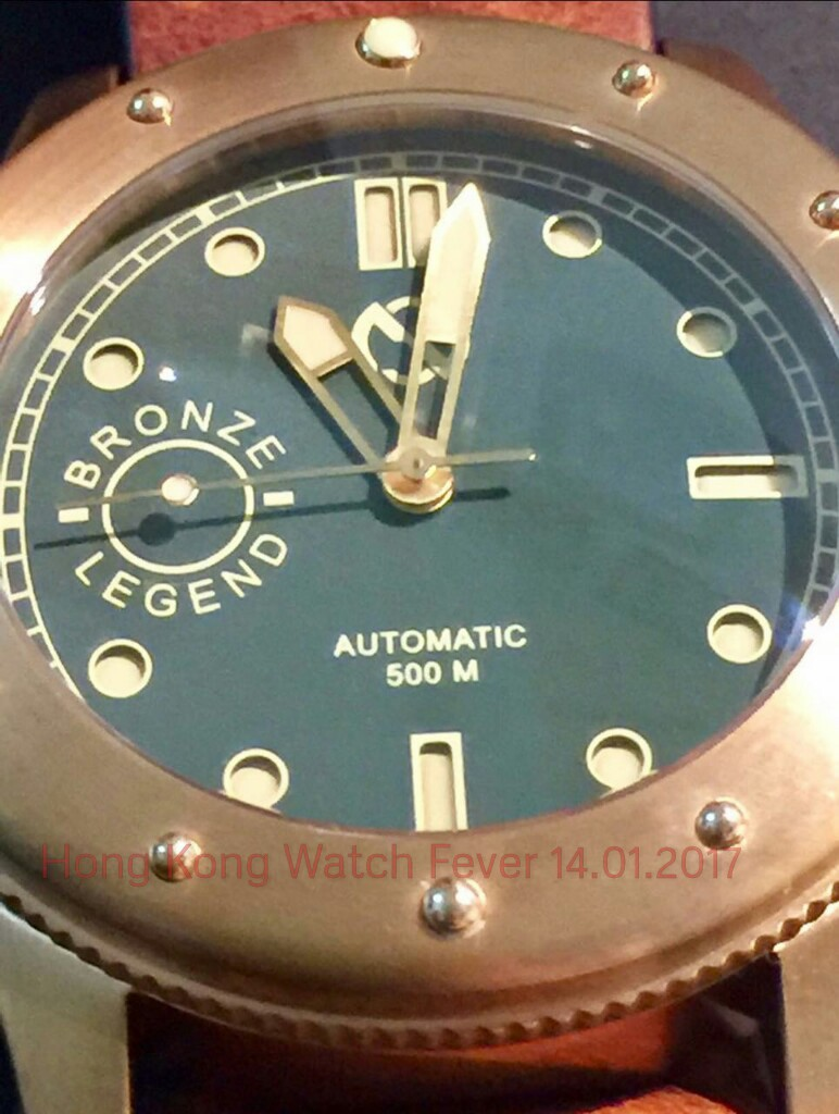 Hong kong watch fever heroic18 swiss made blue gradient dial with arabic numerals bronze for Gradient dial watch