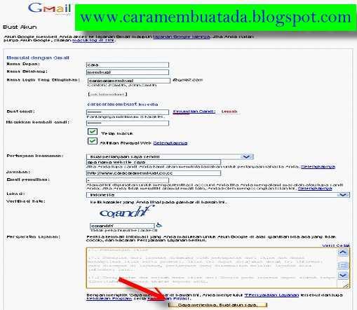 Daftar Email Baru Gmail - Cara Buat Akun Google Mail Gratis