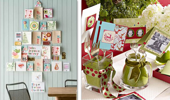 Inspired whims how to display your christmas cards - Christmas card display ideas ...
