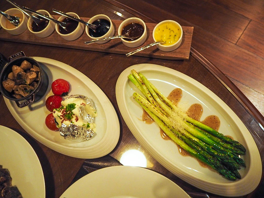 Side dishes for steak at The 1515 West Chophouse and Bar in the Shangri-La hotel, Shanghai
