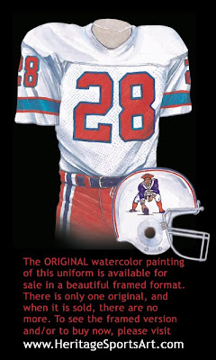 New England Patriots 1978 uniform