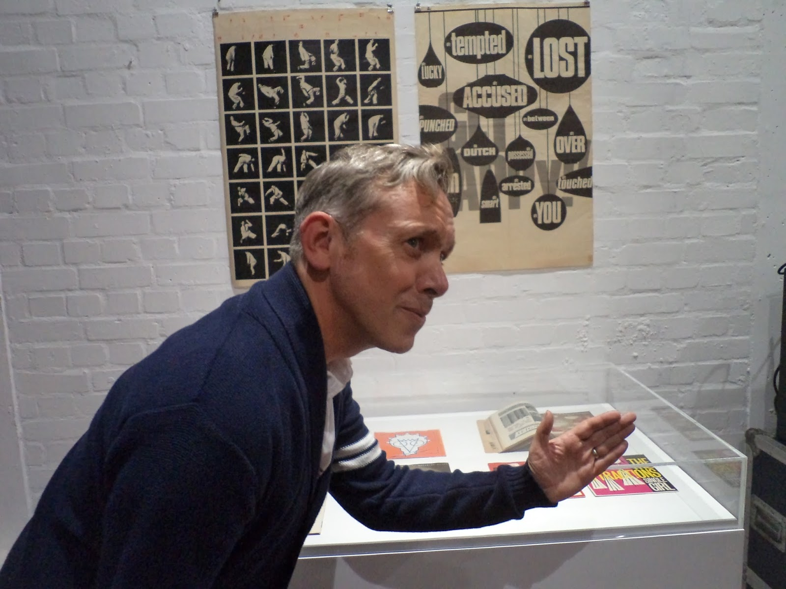 The rebel magazine barney bubbles exhibition in lambeth walk above mikey recreates one of humphrey oceans poses solutioingenieria Images