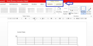 cara menyisipkan table di ms word