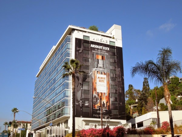 Giant Absolut Elyx Vodka billboard