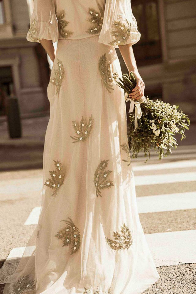 novia vestido low cost barato intropia wedding dress bridal gown