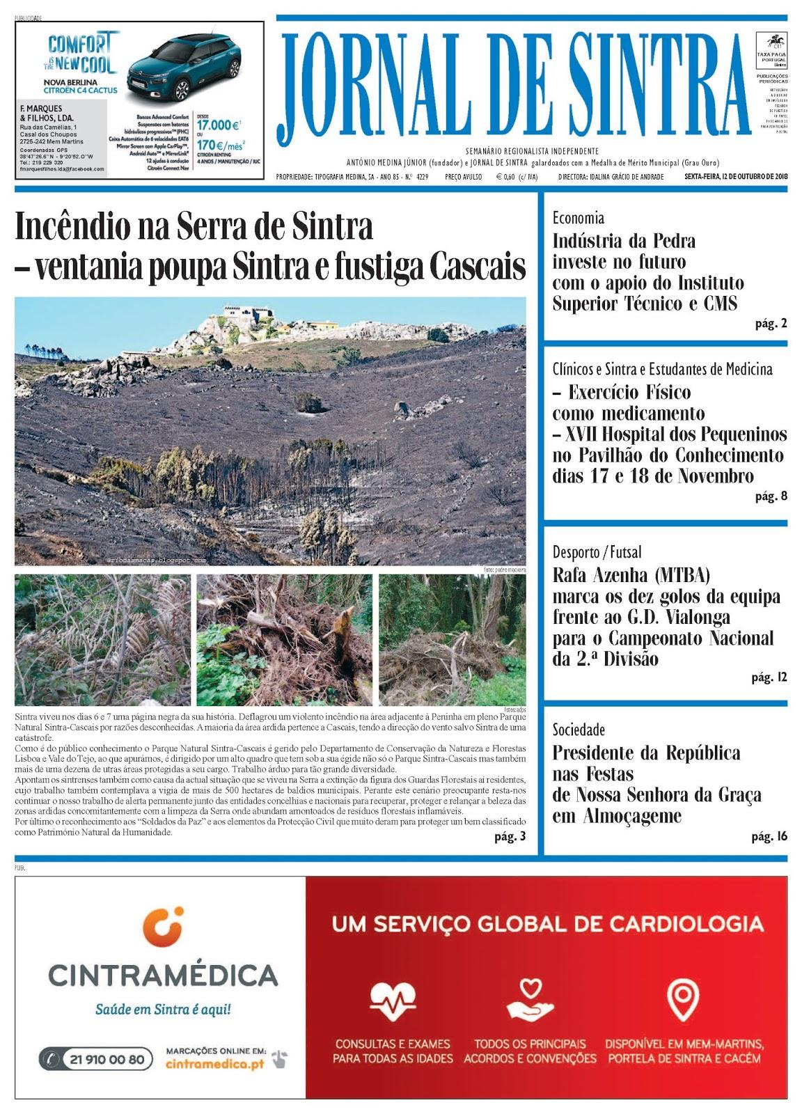Capa da edição de 12-10-2018