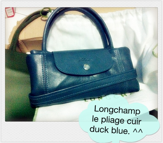 7435ab6a23fa 2nd order arrived  100% authentic Longchamp Le Pliage CUIR