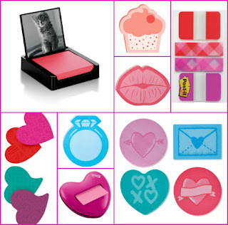 valentine collection of post-it products
