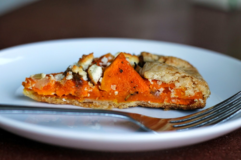 ... : butternut squash galette with caramelized onions and goat cheese