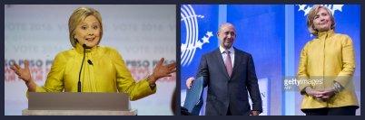 Hillary Clinton with Goldman Sachs CEO