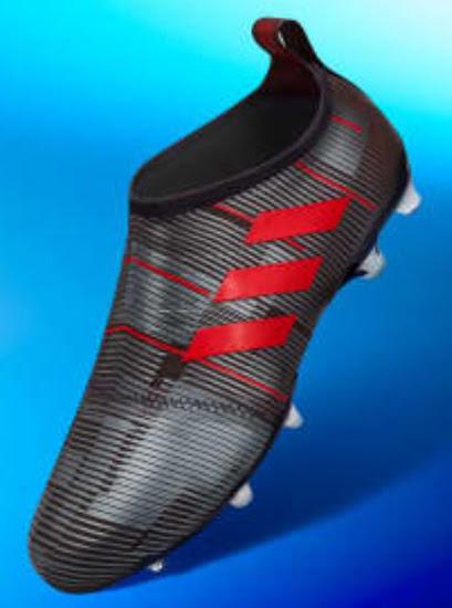 Schwarz Rote Adidas Glitch 17 Optiflage Fußballschuhe