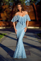 Rochie Eternity Bleu • Rochii lungi ieftine
