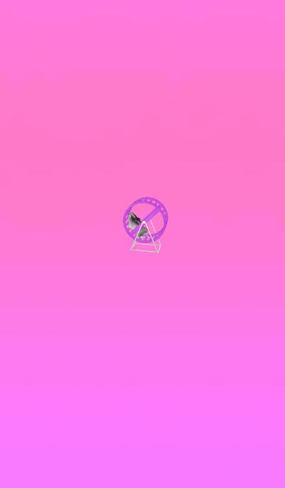 Running hamster pink