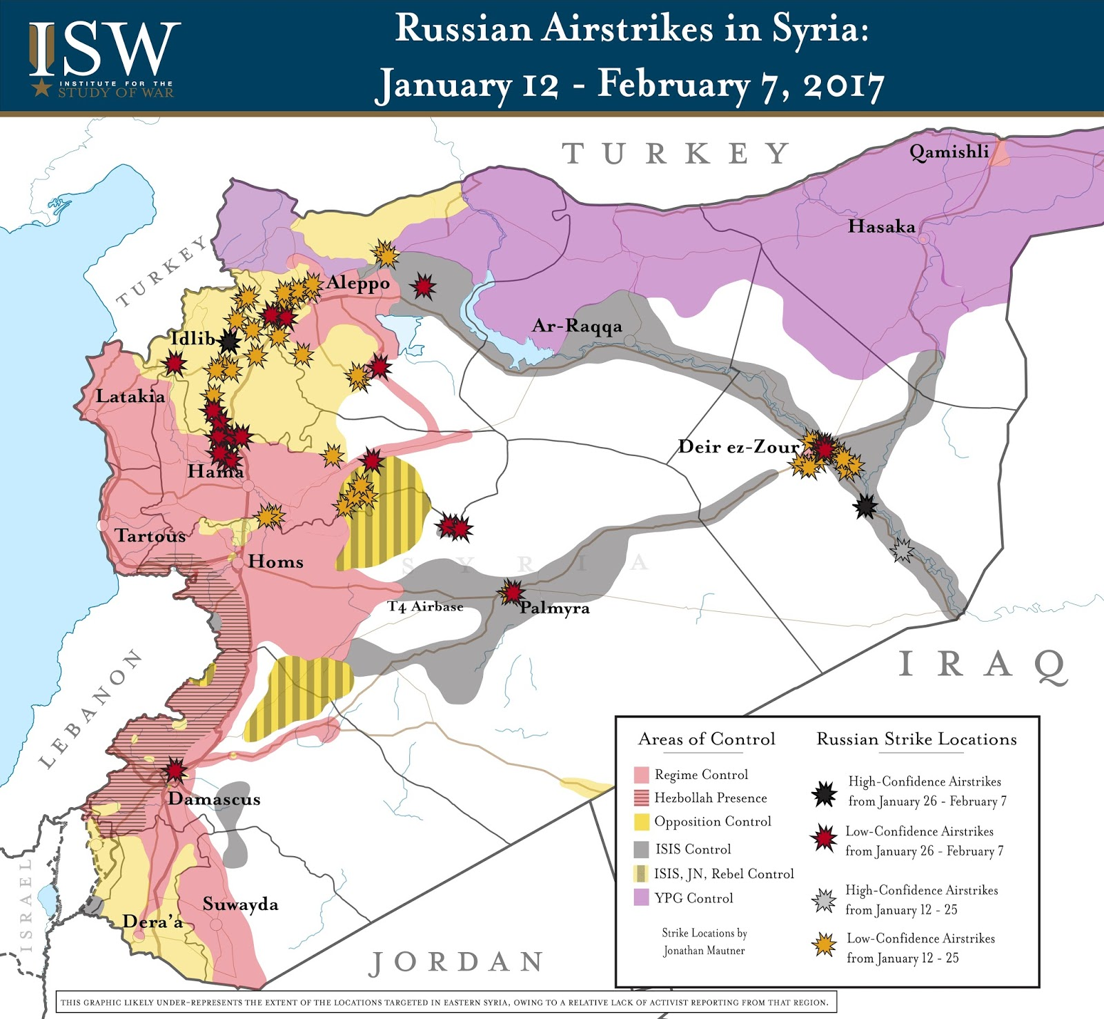 Russian Airstrikes in Syria: January 12 – February 7, 2017