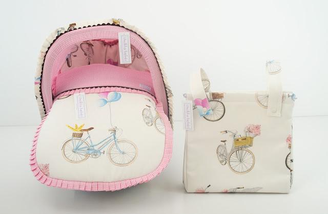bolsa carrito bicicletas rosa chocolate