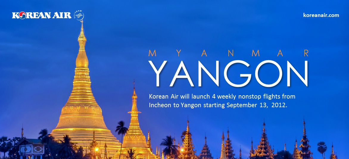 Korean Air Korean Air Will Launch Incheon To Yangon Flight