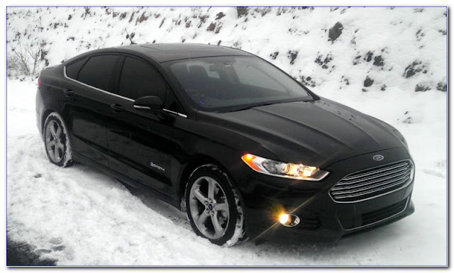 all black ford fusion with tinted windows